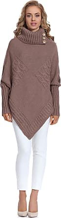 Merry Style Womens Poncho Moena (Mocca, One Size)