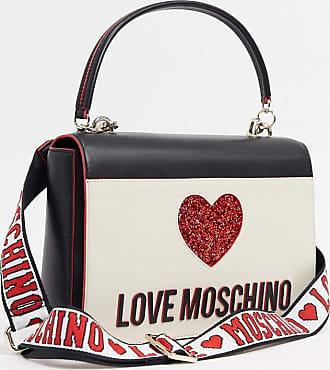 Love Moschino Crossbodytas met hartlogo in ivoor-Crème