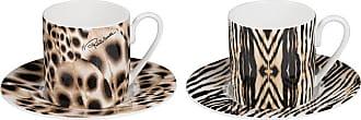 Roberto Cavalli Africa Casablanca/Malindi Espresso Cups & Saucers - Set of 2