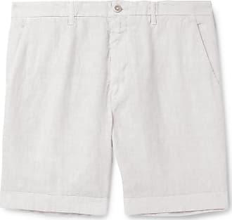 120% CASHMERE Wide-leg Linen Shorts - White