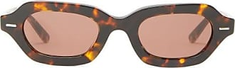 The Row X Oliver Peoples La Cc Rectangular Sunglasses - Womens - Brown