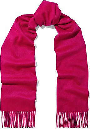 N.Peal N.peal Woman Fringe-trimmed Cashmere Scarf Bright Pink Size