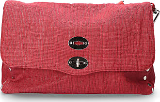 Zanellato Handbag GIUNCO canvas logo red