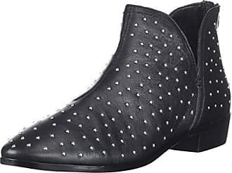 Kenneth Cole Reaction Womens Loop There it is Flat Ankle Bootie Boot, Black Studded, 9.5 M US