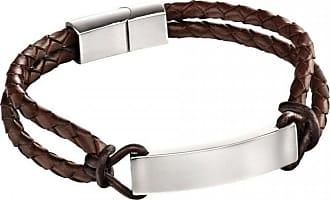 Acotis Limited Fred Bennett Steel Leather Id Rope Detal Bracelet B5122