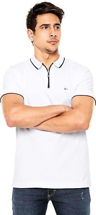 7accb176a3 Aramis Camisa Polo Aramis Regular Fit Zíper Branca