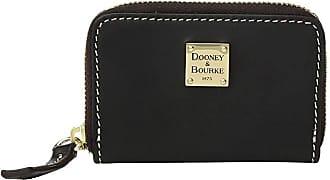 Dooney & Bourke Beacon Zip Around Credit Card Case (Black/Black Trim) Credit card Wallet