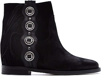 Via Roma 15 Fashion Woman 3308VELOURNERO Black Suede Ankle Boots | Spring Summer 20
