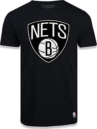 NBA Camiseta NBA Brooklyn Nets Logo Preta
