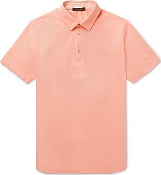 Loro Piana Cotton-piqué Polo Shirt - Orange