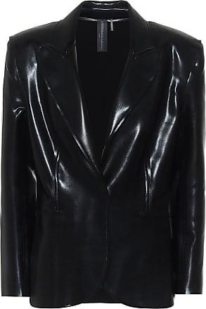 Norma Kamali Faux-leather blazer