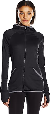 Hanes Womens Sport Performance Fleece Zip Up Hoodie, L, Black Heather