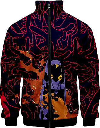 Haililais Fire Force Episode Pullover High Collar Jacket Zipper Jacket Cartoon Personality Printed Sweatshirt Tops Multiple Sizes Unisex (Color : A05, Size : XX