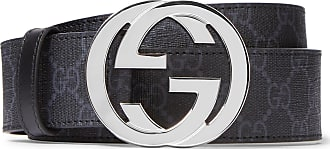 43c1479a187872 Gucci 4cm Black Monogrammed Coated-canvas Belt - Black