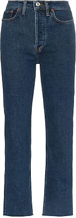 Re/Done Stove Pipe straight leg high-rise jeans - Azul