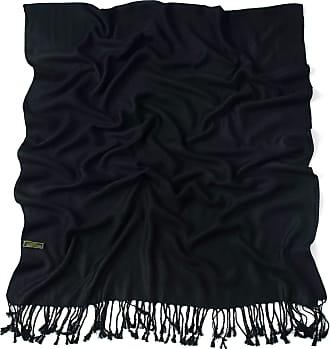 CJ Apparel Black Solid Colour Design Shawl Scarf Wrap Stole Throw Pashmina CJ Apparel NEW, One Size