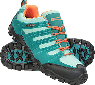 Mountain Warehouse Belfour Womens Walking Shoes - Lightweight Hiking Shoes, Breathable, Lace Up Trainers - for Trekking, Gym & Running Petrol Blue Womens Shoe Size 4 UK
