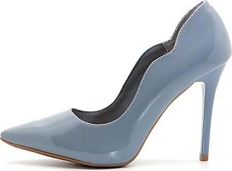 7b660c8347 Royalz Scarpin Royalz Curvas Verniz Salto Alto Fino Azul Jeans