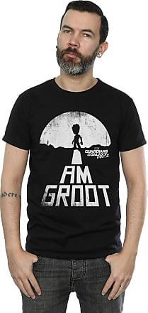 MARVEL Mens Guardians of The Galaxy I Am Groot White T-Shirt XXX-Large Black