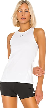 Nike Pro All Over Mesh Tank in White
