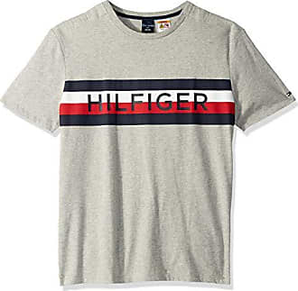 dbdc1045aa1a Tommy Hilfiger Mens Adaptive T Shirt with Magnetic Buttons at Shoulders,  Grey Heather b,