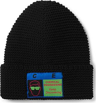 Cav Empt Logo-appliquéd Ribbed-knit Beanie - Black