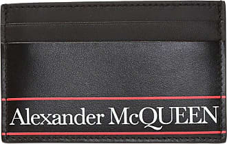 Alexander McQueen Card Holder With Logo Mens Black