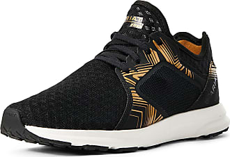 Ariat Womens Fuse Athletic Shoe in Black With Gold Print, B Medium Width, Size 3.5, by Ariat