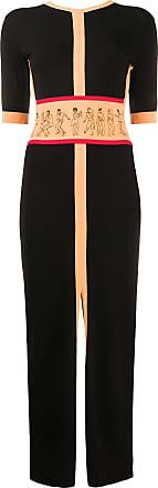 Kirin Vestido longo de tricô com abertura posterior - Preto