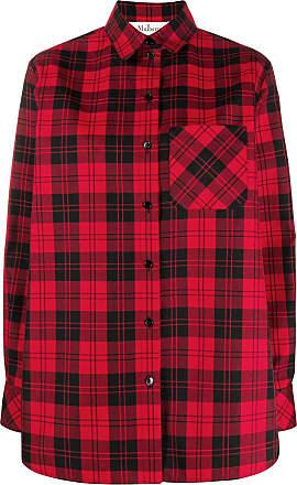 Mulberry Camisa oversized com estampa xadrez - Vermelho
