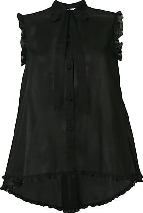Blumarine Vestido com transparência - Preto