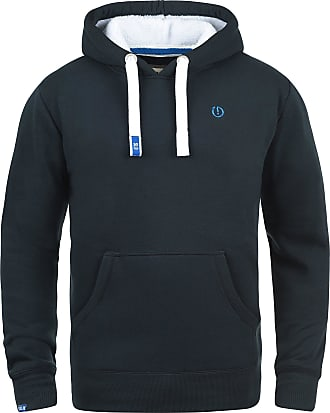Solid BennHood Pile Mens Hoodie Hooded Sweatshirt Jumper with Teddy Fleece with Hood with Teddy Fur Lining, Size:M, Colour:Ins Blue P (P1991)
