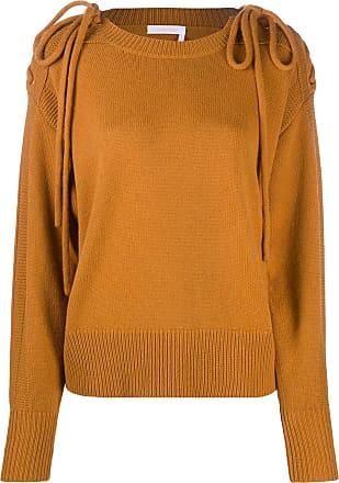 See By Chloé shoulder tie-fastened jumper - Amarelo