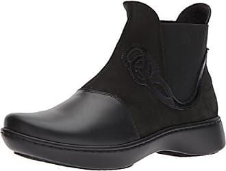 Naot Womens Limia Ankle Boot, Raven Velvet Nubuck/Black Madras Leather, 35 Medium EU (4 US)