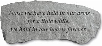 Kay Berry Outdoor Kay Berry Those We Have Held In Our Arms Small Memorial Bench - 29 in. Cast Stone - 36420