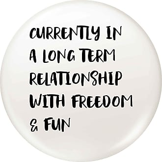 Flox Creative 77mm Pin Badge Relationship With Freedom and Fun