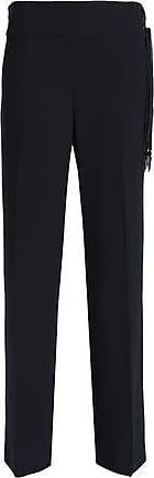 Elie Tahari Elie Tahari Woman Haidee Silk-trimmed Crepe Straight-leg Pants Midnight Blue Size 8