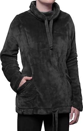 Heat Holders Heat Holders Ladies SockShop Snugover Fleece Jumper In Black Large/Extra Large Black