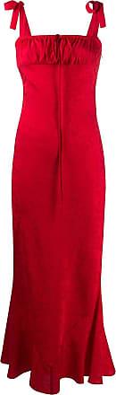 WANDERING Vestido de festa floral - Vermelho