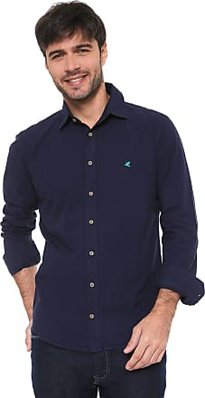 Malwee Camisa Malwee Slim Básica Azul-marinho
