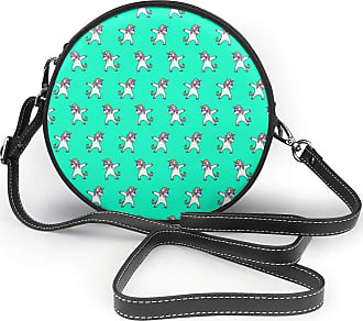Not Applicable Clothing Women Round Shoulder Bag Evening Bridal Prom Party Clutch Handbag Purse Fashion Circle Crossbody Wallet - Helicopter Silhouettes Blue