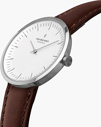 Nordgreen Infinity - Dark Brown Leather - 32mm / Rose Gold