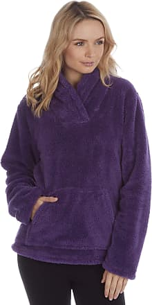 Forever Dreaming Womens Bed Jacket - Fleece Pyjama Snuggle Top - Shawl Collar - Sizes S-XL Purple