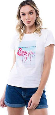 Pop Me Blusa Manga Curta Flamingo Pop Me-branco-gg