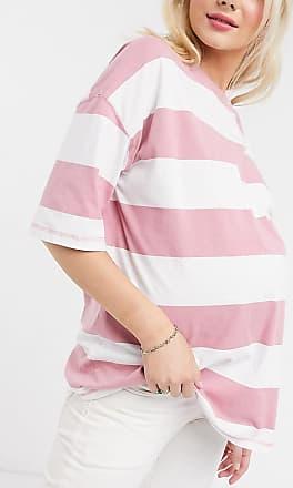 Asos Maternity ASOS DESIGN Maternity oversized t-shirt in acid wash stripe-Pink