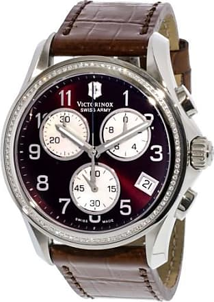 Victorinox by Swiss Army Swiss Army Womens 241420 Brown Leather Chronograph Fashion Watch