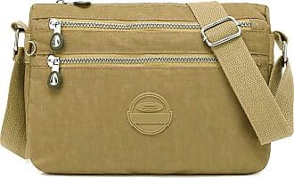 GFM Womens Nylon Waterproof Cross Body Shoulder Bag (S1-1216-HLKEK)