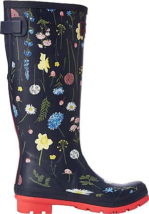 Joules Womens Welly Print Wellington Boots, Blue (Navy Spring Flowers Navsprflrl), 7 UK 40/41 EU