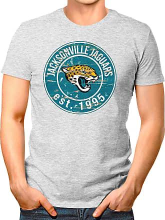 OM3 Jacksonville-Badge - T-Shirt | Mens | American Football Shirt | XXL, Heather Grey