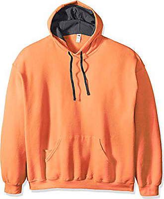 Fruit Of The Loom Mens Hooded Sweatshirt,Orange Sherbet,XX-Large